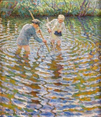 Boys Catching Fish