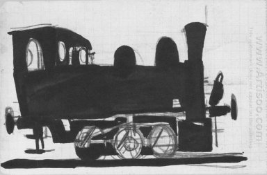 locomotive in the donbas 1924