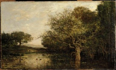 The Pond With A Herons 1857