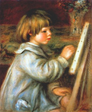 Portrait of Claude Renoir Painting
