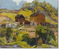 Hilly Landscape with Houses