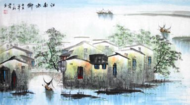 Tree and Water - Shumu - Chinese Painting