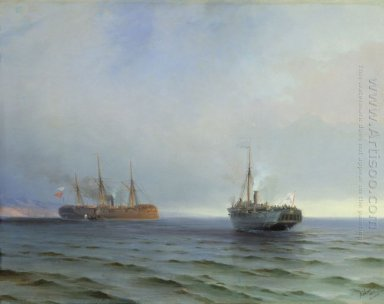 The Capture Of Turkish Nave On Black Sea 1877