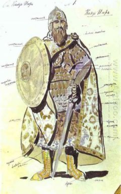 Costume Design For Igor In The Production Of Prince Igor At The