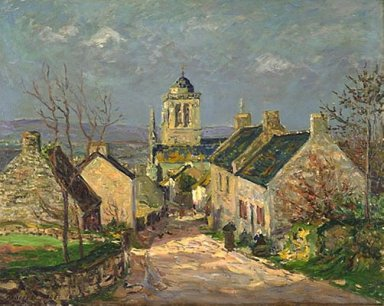 The Descending Street At Locronan 1906