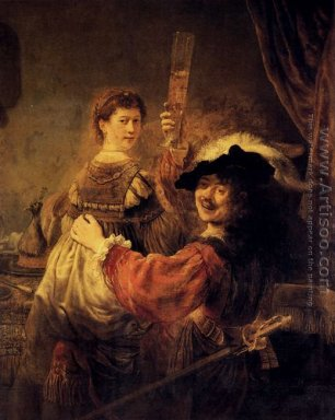 Rembrandt and Saskia in the Scene of the Prodigal Son in the Tav