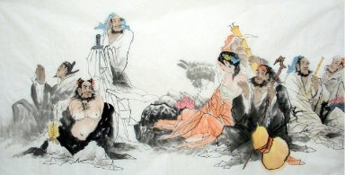 Eight Immortals-Chinese Painting