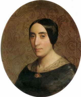 A Portrait Of Amelina Dufaud 1850