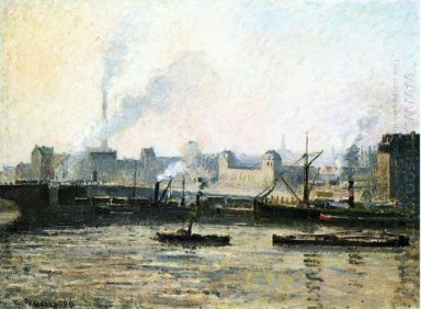 the saint sever bridge at rouen fog 1896