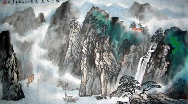 Take a boat journey - Chinese Painting