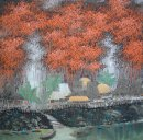 Trees, river - Chinese Painting