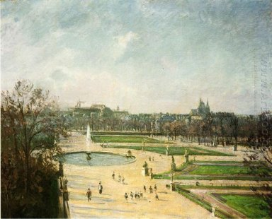 the tuileries gardens afternoon sun 1900