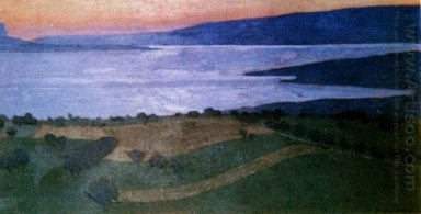The Lake Lema Effect Of The Evening 1900
