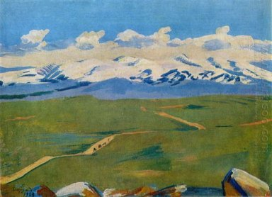 Aragats In Clouds 1923