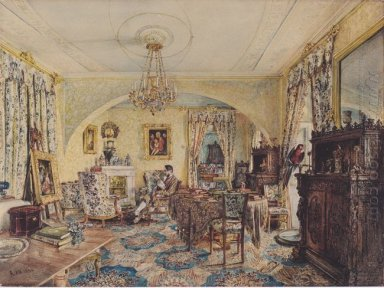 Count Casimir Batthyány In His Saloon At Castle Siklós 1844
