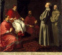 The Blessed Giles Levitating Before Pope Gregory Ix 1646