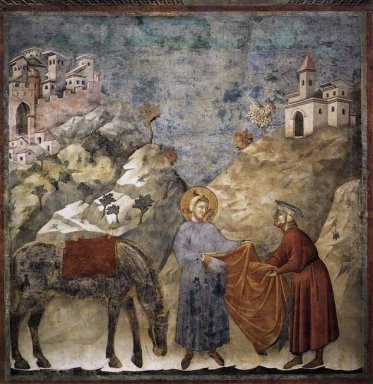 St Francis Giving His Mantle To A Poor Man 1299