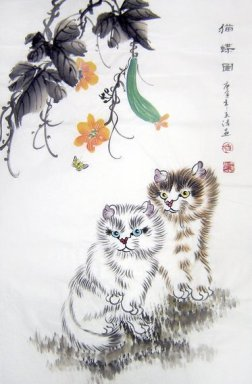 Cat - Chinese Painting