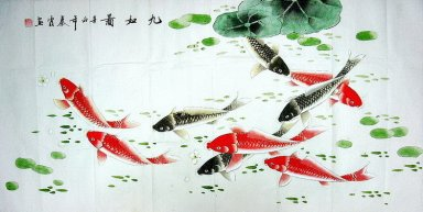Fish - Lotus - Chinese Painting