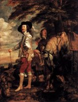 Charles i king of england at the hunt