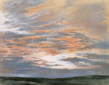 Study Of The Sky At Sunset 1849