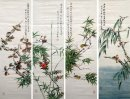 Birds&Flower(Four Screens) - Chinese Painting