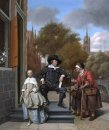 Burgher Of Delft And His Daughter 1655