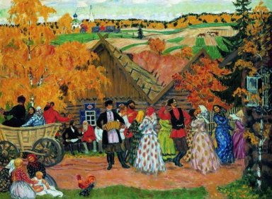 Village Holiday Autumn Holiday In The Village 1914
