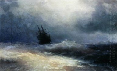 Ship In A Storm 1887
