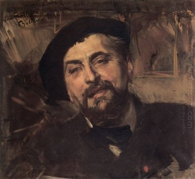 Portrait Of The Artist Ernest Ange Duez 1896