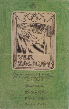 Postcard To Carl Moll Ver Sacrum 1897