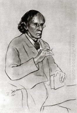 Portrait Of The Writer Vyacheslav Ivanov 1920