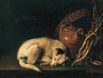 A Sleeping Dog with Terracotta Pot