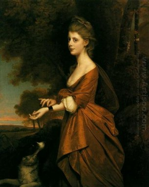 Portrait Of A Girl In A Tawny Colored Dress