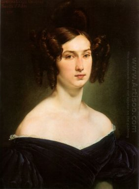 Portrait Of Countess Luigia Douglas Scotti D Adda 1830