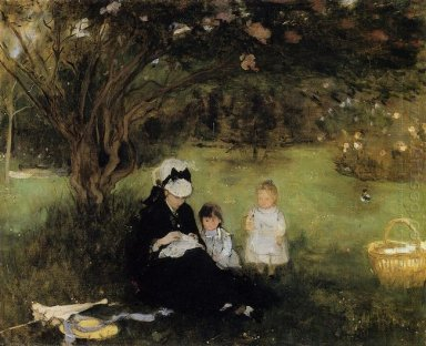 Beneath The Lilac At Maurecourt 1874