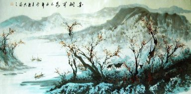 Landscape with river - Chinese Painting