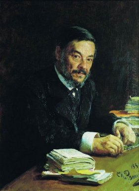 Portrait Of Ivan Mikhaylovich Sechenov Russian Physiologist 1889