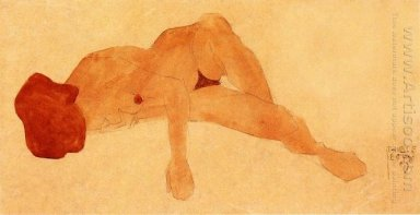 reclining female nude 1908