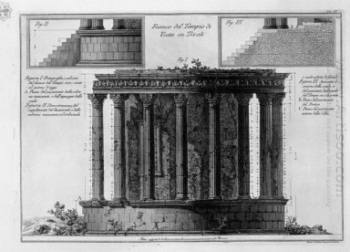 Side Of The Temple Of Vesta In Tivoli