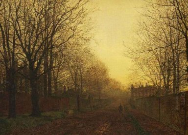 Wimbledon Park Autumn After Glow 1866