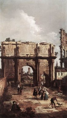 rome the arch of constantine 1742