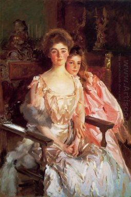 Mrs Fiske Warren Gretchen Osgood And Her Daughter Rachel 1903