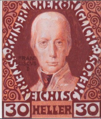 Design For The Anniversary Stamp With Austrian Emperor Francis I