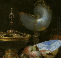 Still Life with Holbein Bowl, Nautilus Cup, Glass Goblet and Fru