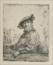 A Man In An Arboug 1642