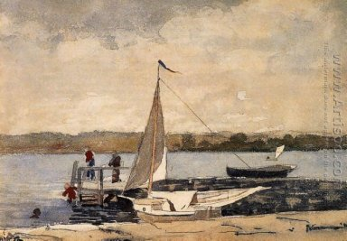 A Sloop at a Wharf, Gloucester