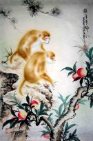Monkey&Peach - Chinese Painting