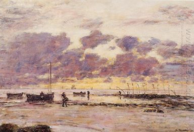 The Shores Of Sainte Adresse At Twilight 1890
