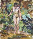 Nude On A Green Background 1928